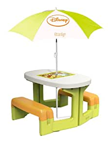 smoby winnie the pooh picnic table and parasol. Black Bedroom Furniture Sets. Home Design Ideas