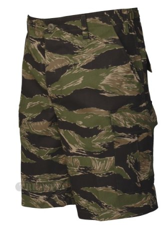 Tru-Spec BDU Shorts Cotton Tiger Stripe Green S 4219003 -
