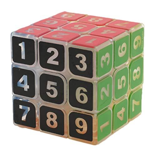 Zauberwürfel Kostüm Einfache - WXXW Transparent Zauberwürfel,3x3 Speed Cube,Magic Cube,3D Puzzles Kombinationsübungen Druckminderer Intelligenz IQ Geschenk Kind Kindergeburtstag, Black