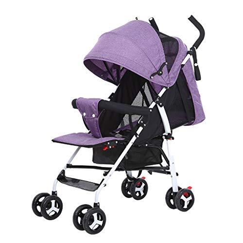 Poussette légère pour bébé pouvant s'asseoir et Se Reposer Poussettes landaus Simple Pliant Enfant Chariot Parapluie Mesh Umbrella Voyage Poussettes Buggies