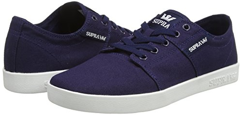 Supra  STACKS II D, Sneakers basses mixte adulte Bleu - Blau (NAVY - WHITE   NVY)