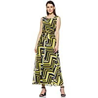 Styleville.in Synthetic a-line Dress (SNDRF501367_Yellow_Small)