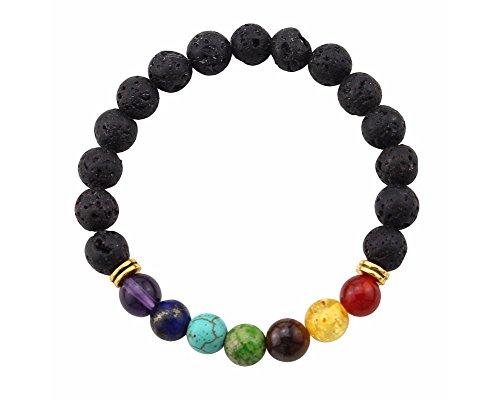 ARMBAND Lava 7 Chakra * Esoterik * Spiritualität * Meditation * Yoga * Reiki * Balancing * Heilung (Heilung Figuren)