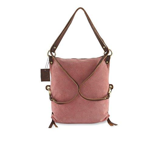 HYDESTYLE , Damen Rucksackhandtasche Mehrfarbig blau rose gold