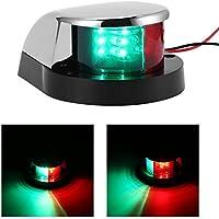 Konesky Luces de navegación LED Luz de Barco Marina Pontoons Luces de señal de navegación