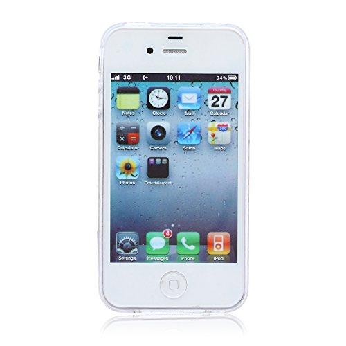 ZeWoo TPU Schutzhülle - BF016 / Baum und Natur - für Apple iPhone 4 4G 4S Silikon Hülle Case Cover BF005 / Weiß Muster