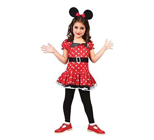Walt Kostüm Mädchen Disney - süße Comic Maus - Kostüm für Mädchen Gr. 98 - 146, Größe:128/134