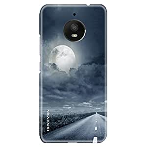 iSweven Motorola Moto E4 Plus back cover/case cover - Printed Matte Finish (Cloud And Road design)