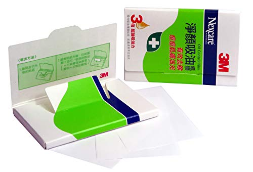 3M Nexcare Gesichtsöl Löschpapier - Oil Control Film Blotting Paper - 8.5cm x 5.5cm, pack mit 60...