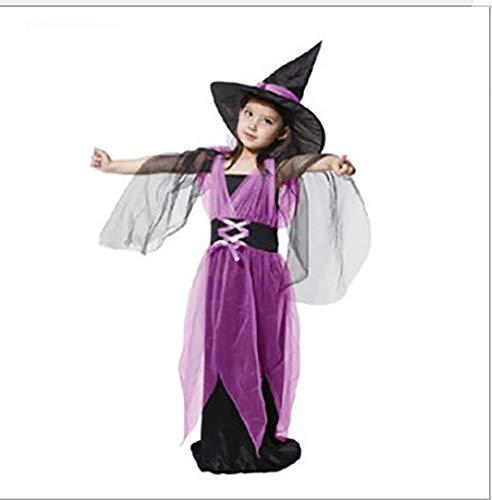 Spring Tide Kinder Halloween Kostüm Cosplay Kostüm Kleines Mädchen Halloween Kinderkleidung Hexenkostüm,Style4,L