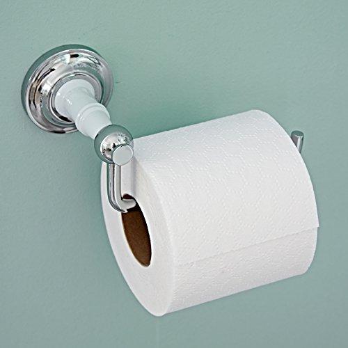 toilettenpapierhalter toilettenrollenhalter bianco stylisch wandhalterung chrom und keramik finish - Freistehender Toilettenpapierhalter Chrom