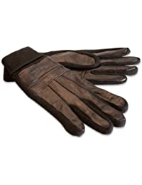 Quivano Mens Genuine Leather Gloves With Elasticated Turn Down Cuff for Winter # 320-200