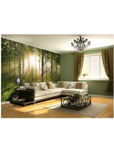 1wall-stunning-green-forest-green-trees-and-sunrise-wallpaper-wall-mural