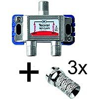 tecatel ripartitore 2uscite TV SAT + Connettori F