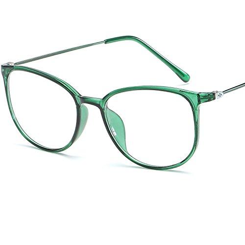 LANOMI Retro Nerdbrille Runde Brille Brillen Metallbügel Hornbrille Damen Herren Brillenetui...