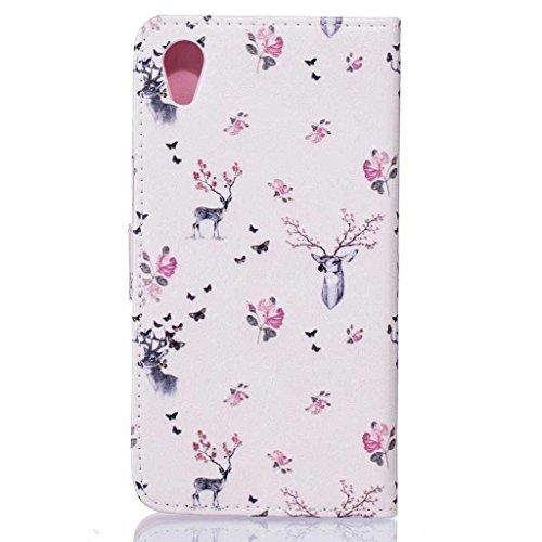 iPhone 5C Hülle + [Frei Hartglas Displayschutzfolie], BoxTii Apple iPhone 5C Schutzhülle mit Kartenfächern Ständer Funktion Magnetverschluss, Kratzfeste Wickelfalz Lederhülle Ledertasche mit Stoßdämpf #7 Pink