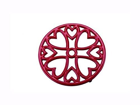 Apollo Housewares mini round cast iron trivet