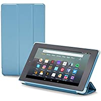 Nupro tri-fold standing case for Fire 7 tablet, Twilight Blue