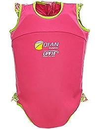 Highdas Niños de natación del desgaste del flotador juego de nadada de la ayuda de neopreno Traje de 2 piezas Swim Trainer Chicas