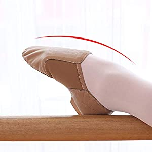 ever popular to buy release date Soft Leather Jazz Shoes Split Sole Slip on Dance Shoes for Women ...