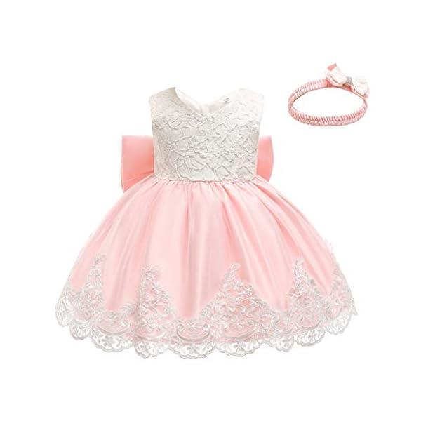 YGbuy Vestido de Novia de Encaje Bordado sin Mangas para Niñas Vestido de Princesa Vestido de Falda + Conjunto de… 1