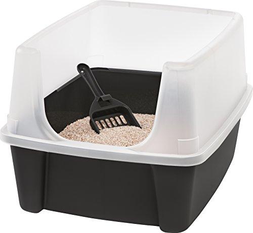 Iris Katzentoilette mit Rand und Schaufel 'Cat Litter Box', Plastik, 48,5 x 38 x 30,5 cm - Hygienische Regale
