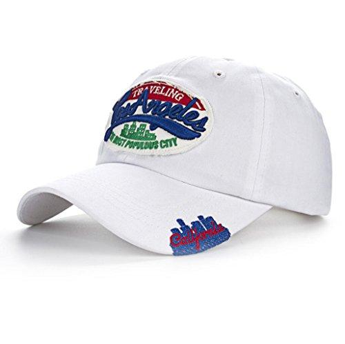 Funny hat Printemps Automne Unisexe Loisirs Simplicité Coton réglable Broderie Baseball/Casual Sport Outdoor Snapback Casquette avec Broderie Los Ange