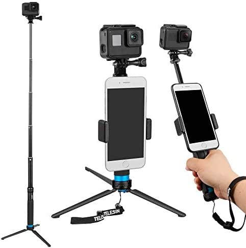 Biggystar Selfie Stick Ultra-Long Carbon Fiber Camera Accessories are Suitable for GoPro//Little Ant//Mountain Dog Etc.