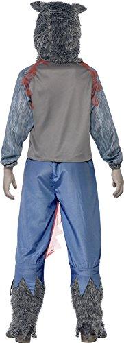 Imagen de smiffy's  disfraz deluxe lobo  guerrero, color gris 44296m  alternativa