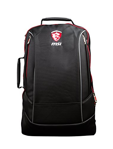 MSI Hecate Gaming-Rucksack für 38,1 cm - 43,2 cm (15 - 17Zoll) Notebook–Schwarz