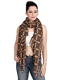 VERISMO SCARF Soft Polyester Quality Rangoli Printed Beautiful Stole With Eyelash Fringes. Can Wear On Any Outfit...