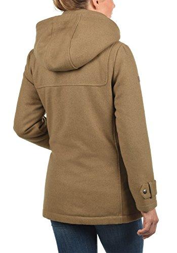 DESIRES Penna Damen Winter Jacke Parka Mantel Dufflecoat mit Stehkragen und Kapuze, Größe:S, Farbe:Sepia (5075) - 3