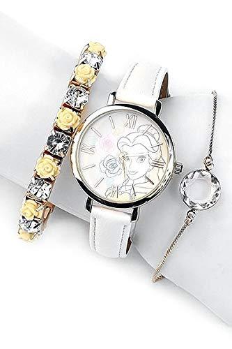 Die Schöne und das Biest La Belle Et La Bête Belle Montres bracelets blanc/or