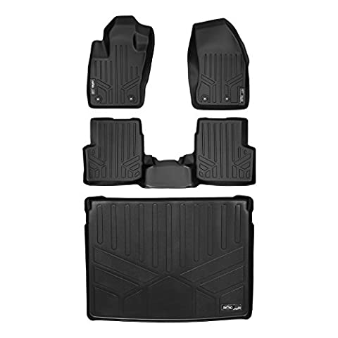 MAXFLOORMAT Floor Mats and MAXTRAY Cargo Liner for Jeep Renegade (2015-2016) (Black) by MAXLINER