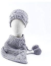 d96f523a446e9 JBLDY Capas de Lana Tejida de Otoño E Invierno para Niños Cálido Traje de  Dos Piezas