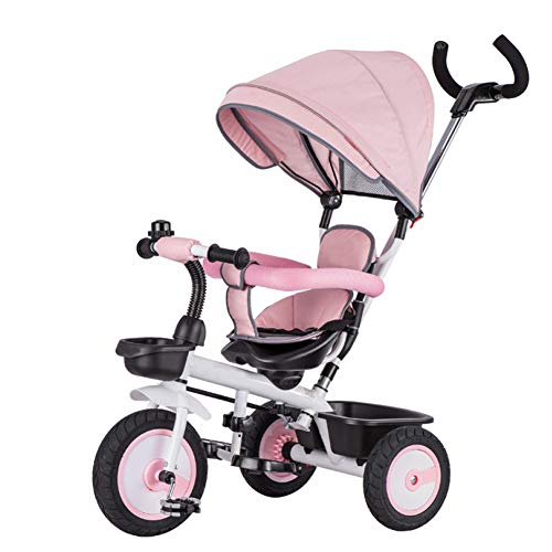 TH - 4 In1Triciclo para Niños Triciclo Baby Carro De Bebe, con Manillar Extraíble, Rueda De Goma No...