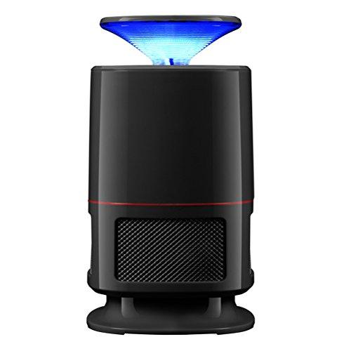 Clispeed LED Lampada Antizanzare Elettrico da Interno UV Trappola per Zanzare Mosche Insetti Cattura Zanzare USB (Nero)