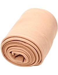 Tinksky Las mujeres polainas Full Length Color sólido Leotardos elásticos de paño grueso y suave Medias (Color de la piel)