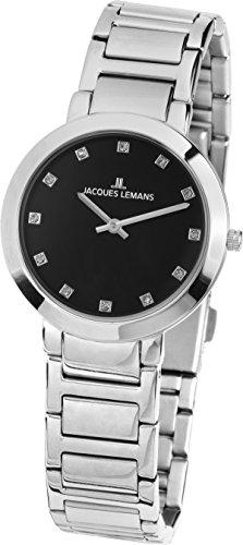 Jacques Lemans Reloj Analógico para Mujer de Cuarzo con Correa en Acero Inoxidable 1-1842.1G