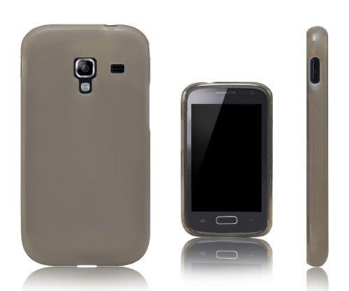 Xcessor Vapour Custodia per Samsung Galaxy Ace 2 i8160. Flessibile TPU Gel. Grigio/Semitrasparente