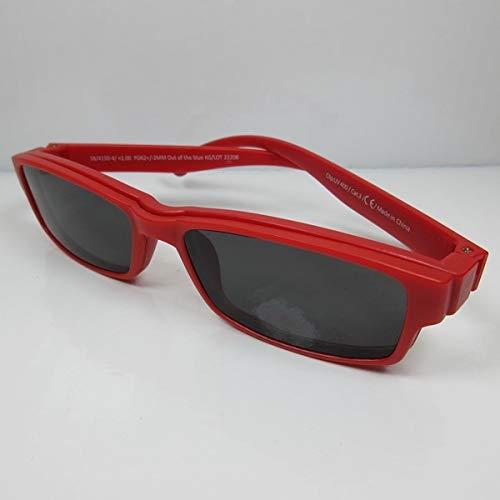Getönte Lesebrille +3,0 rot mit Magnet Clip-on UV400 CAT.3 Lese-Sonnenbrille