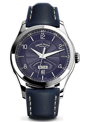 Armand Nicolet gents-wristwatch M02giorno e data analogico automatico 9740a-bu-p140bu2