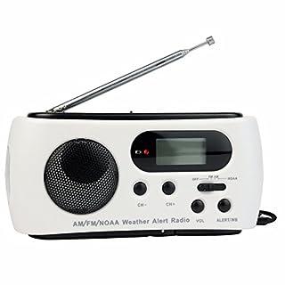 ARBUYSHOP New Arrival NOAA Weather Radio AM / FM 3 LED Flashlight Solar + Crank Power + Emergency Charger Y4345B Eshow