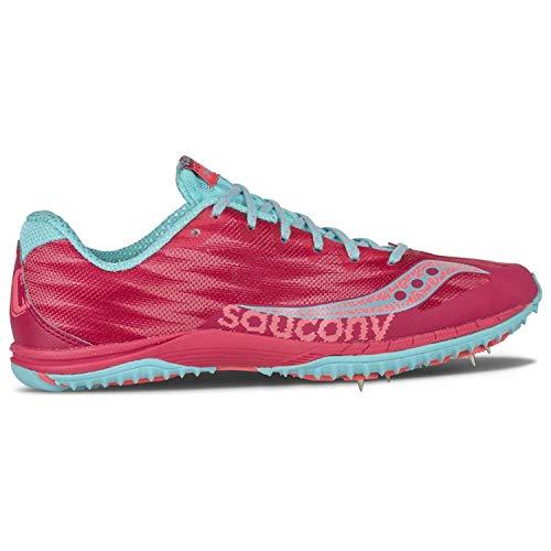 Saucony Women's Kilkenny XC Spike Berry/Light Blue Sneaker 9.5 B (M)
