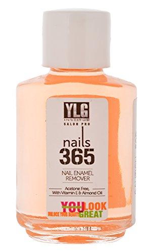 YLG Nails 365 Nail Enamel Remover, Orange, 30ml
