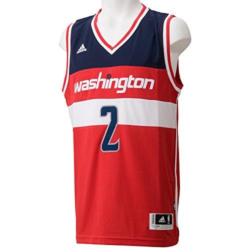 Adidas Int Swingman Maglia da Uomo, Rosso/Nero/Bianco (Nba Washington Wizards 7 3W8), XL