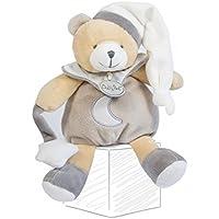 Babynat Babynat ours ourson pantin gris taupe et blanc luminescent avec etoile lune long