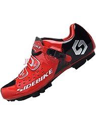 SIDEBIKE Zapatillas de Ciclismo para Adultos, Zapatillas de Bicicleta de Montaña Resistente al Viento Transpirable