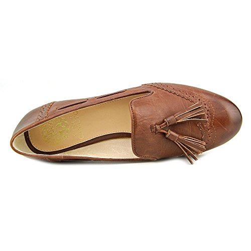 Vince Camuto Chayton Cuir Chaussure Plate Cognac