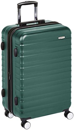 AmazonBasics - Hochwertiger Hartschalen-Trolley mit eingebautem TSA-Schloss und Laufrollen, 78 cm, Grün